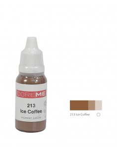 213 Ice Coffee liquid eyebrows pigment. Doreme pigment for permanent makeup.