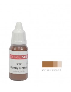 217 Honey Brown liquid eyebrows pigment. Doreme pigment for permanent makeup.