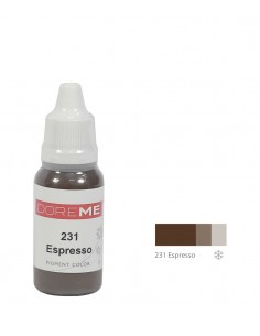 231 Espresso liquid eyebrows pigment. Doreme pigment for permanent makeup.
