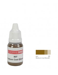 807 Medium Cool Blonde - organic Doreme eyebrows pigment for permanent makeup.