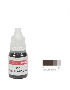817 Dark Cool Brown - organic Doreme eyebrows pigment for permanent makeup.