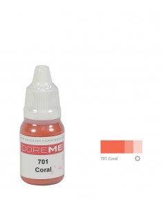 701 Coral organic Doreme lip pigment for permanent makeup.