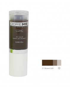 51 Brown Ash - Doreme professional pigment for permanent makeup.