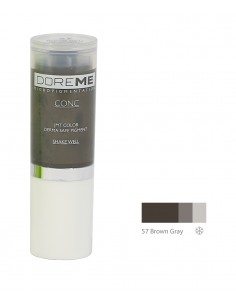 57 Brown Gray - Doreme professional pigment for permanent makeup.