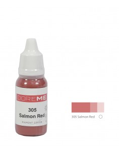 305 Salmon Red 15ml - liquid lip pigment. Doreme pigment for permanent makeup.