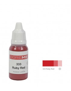 333 Ruby Red 15ml - liquid lip pigment. Doreme pigment for permanent makeup.