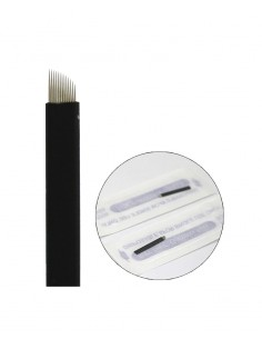 Microblading Blade Black 12F Pin for permanent makeup. Microblading product supplier in Ireland.