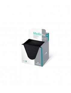 Towel bibs in a box, 3ply black. Permanent make up products supplier in Ireland.