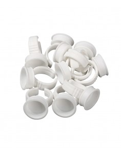 Permanent makeup  ring cups - white. White plastic ring cups supplier.