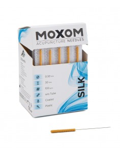 MOXOM Silk 0,30 x 30mm. Acupuncture needles with plastic handle, siliconized. PMU Shop Ireland