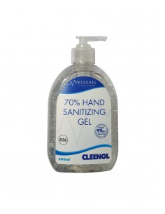 Medisan 70% alcohol hospital specification clear hand sanitizing gel - 500ml.