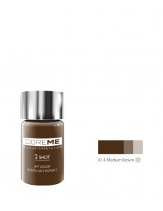 814 Medium Brown 2Shot pigment. Doreme pigment for permanent makeup.