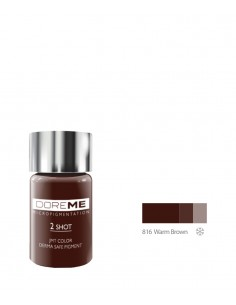816 Warm Brown 2Shot pigment. Doreme pigment for permanent makeup.