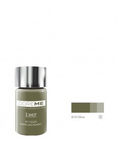 818 Olive 2Shot pigment. Doreme pigment for permanent makeup.