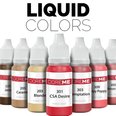 Liquid colours for permanent makeup Dublin Ireland